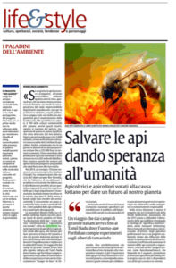 Salvare le api dando speranza all'umanità recensione su La Sici
